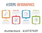 process chart template  four... | Shutterstock .eps vector #614737439
