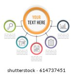 infographic template with five... | Shutterstock .eps vector #614737451