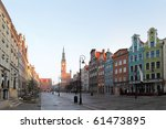 Town hall in the old town in Gdansk, Poland. - stock photo