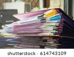 division of documents on the... | Shutterstock . vector #614743109