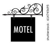 vector illustration motel... | Shutterstock .eps vector #614745695