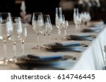 luxury wedding reception.... | Shutterstock . vector #614746445
