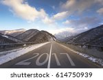 Road In Winter. Winter And...
