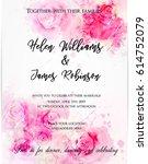 wedding invitation template...   Shutterstock .eps vector #614752079