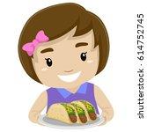 vector illustration of little... | Shutterstock .eps vector #614752745