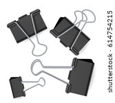 small and large binder clips...   Shutterstock .eps vector #614754215