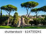 the ruins of ancient rome.  | Shutterstock . vector #614755241
