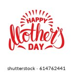 happy mother's day typography.... | Shutterstock .eps vector #614762441