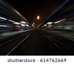 night train station with... | Shutterstock . vector #614762669