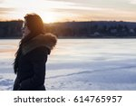 gil enjoying the view of the... | Shutterstock . vector #614765957