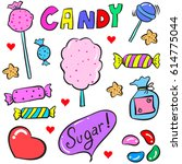 collection stock of candy... | Shutterstock .eps vector #614775044