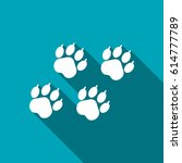 animal paw traces vector flat... | Shutterstock .eps vector #614777789