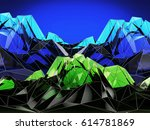 abstract blue and green... | Shutterstock . vector #614781869