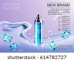 design cosmetics advertising... | Shutterstock .eps vector #614782727