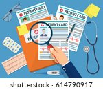 folder with patient card and...   Shutterstock .eps vector #614790917