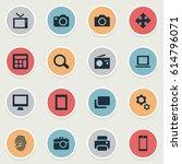 vector illustration set of... | Shutterstock .eps vector #614796071