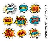 sale pop art vector set. big ...   Shutterstock .eps vector #614799815