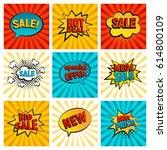 retro sales icon vector card...   Shutterstock .eps vector #614800109