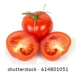 perfect the tomatoes. isolation ... | Shutterstock . vector #614801051