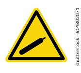 compressed gas sign on yellow...   Shutterstock .eps vector #614802071