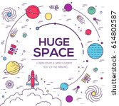 set of huge universe...   Shutterstock .eps vector #614802587