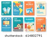 tour of the world vector... | Shutterstock .eps vector #614802791