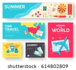 tour of the world vector... | Shutterstock .eps vector #614802809