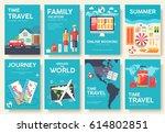 tour of the world vector... | Shutterstock .eps vector #614802851
