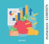 saving conceptual design | Shutterstock .eps vector #614805074