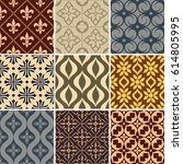 retro seamless wallpaper... | Shutterstock .eps vector #614805995
