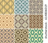 retro seamless wallpaper... | Shutterstock .eps vector #614806019