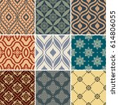 retro seamless wallpaper... | Shutterstock .eps vector #614806055