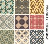 retro seamless wallpaper...   Shutterstock .eps vector #614806061
