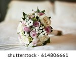 bridal bouquet with white and...   Shutterstock . vector #614806661