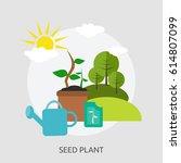 seed plant design | Shutterstock .eps vector #614807099