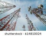 wireless telecommunications... | Shutterstock . vector #614810024