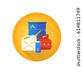 vector colorful flat design....   Shutterstock .eps vector #614811749