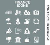 finance icons. vector concept... | Shutterstock . vector #614817821