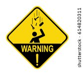 falling objects warning sign ... | Shutterstock .eps vector #614820311