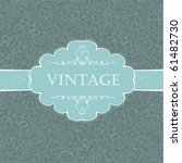 vintage styled card with floral ... | Shutterstock .eps vector #61482730