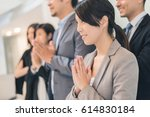 business people with thai... | Shutterstock . vector #614830184