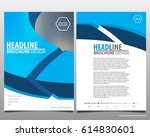abstract vector modern flyers... | Shutterstock .eps vector #614830601