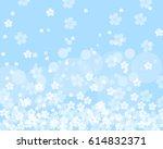 sakura background | Shutterstock .eps vector #614832371