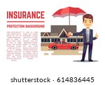insurance vector concept with... | Shutterstock .eps vector #614836445