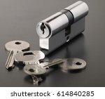 pin tumbler of cylinder lock...   Shutterstock . vector #614840285
