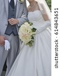 bridal image  splendid and... | Shutterstock . vector #614843651