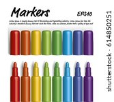 Set Of Colorful Markers