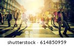 crowd of anonymous people...   Shutterstock . vector #614850959
