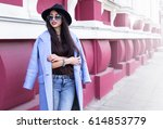 outdoor lifestyle fashion... | Shutterstock . vector #614853779
