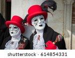 venice masks festival 30 | Shutterstock . vector #614854331